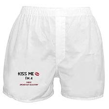 Kiss Me I'm a RADIO BROADCAST ASSISTANT Boxer Shor