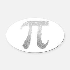 pi in numbers Oval Car Magnet