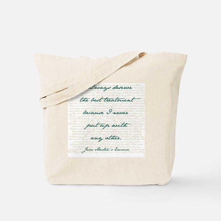 Cute Jane austen quotes Tote Bag