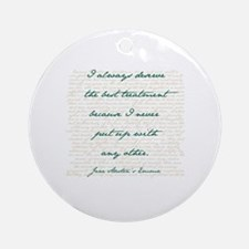 Cute Austen Round Ornament
