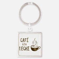 cafe con leche Keychains