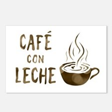 cafe con leche Postcards (Package of 8)