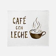 cafe con leche Throw Blanket