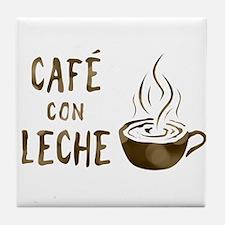 cafe con leche Tile Coaster