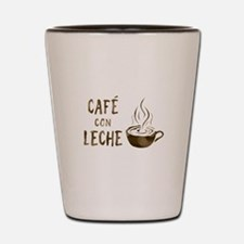 cafe con leche Shot Glass