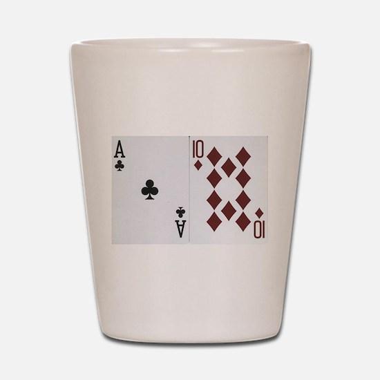 Blackjack Shot Glass