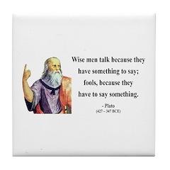 Plato 9 Tile Coaster