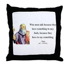 Plato 9 Throw Pillow