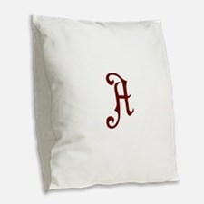 A is for... Burlap Throw Pillow