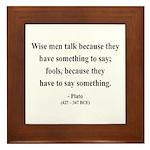 Plato 9 Framed Tile