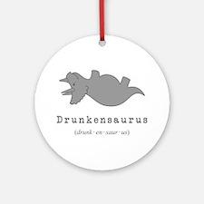 Drunkensaurus - St. Patrick's Day Shirt Round Orna