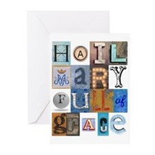 Hail Mary Full of Grace Letters Greeting Cards