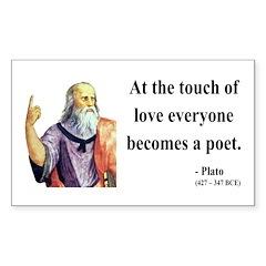 Plato 10 Rectangle Decal
