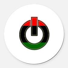 Black Power!! Round Car Magnet