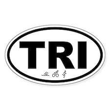 Triathlon I TRI Oval Decal