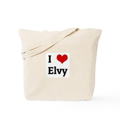 I Love Elvy Tote Bag