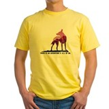 Adventure dog Mens Classic Yellow T-Shirts