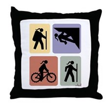 Multi Sport Gal Throw Pillow