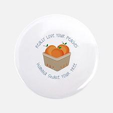 Love Peaches Button