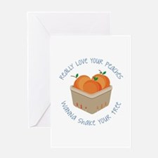 Love Peaches Greeting Cards