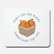 Love Peaches Mousepad