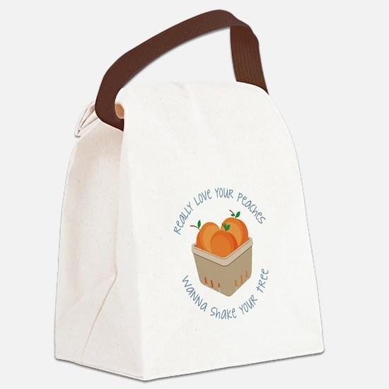 Love Peaches Canvas Lunch Bag