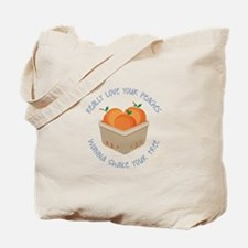 Love Peaches Tote Bag