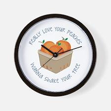 Love Peaches Wall Clock