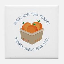 Love Peaches Tile Coaster