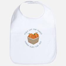 Love Peaches Bib