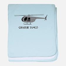 Charlie Tango Chopper baby blanket