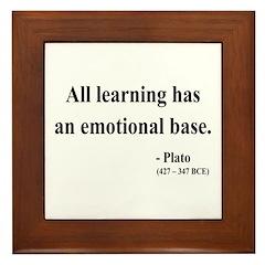 Plato 12 Framed Tile