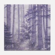 Purple Misty Forest Tile Coaster