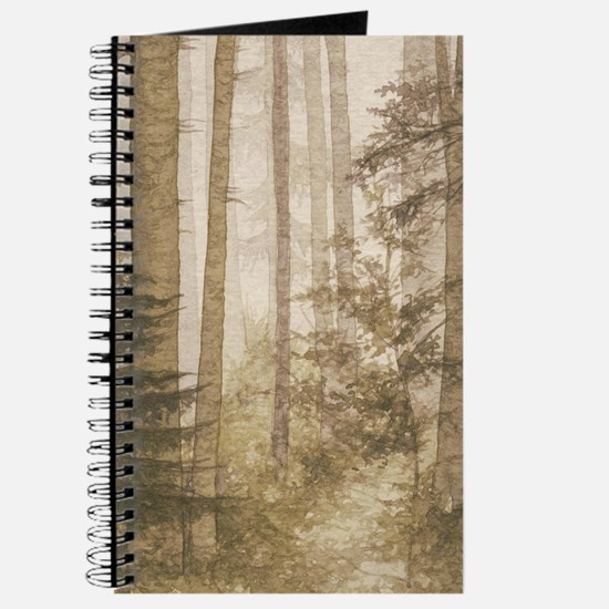 Brown Misty Forest Journal