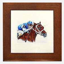 Unique Racehorse Framed Tile