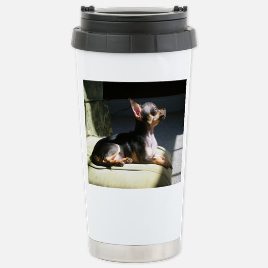 Cute Black and tan chihuahua Travel Mug