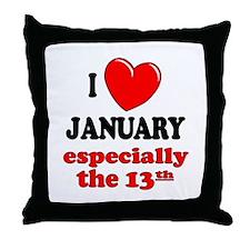January 13th Throw Pillow
