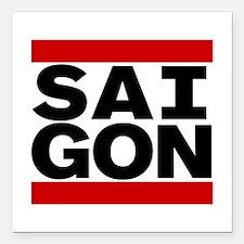 """SAIGON Square Car Magnet 3"""" x 3"""""""