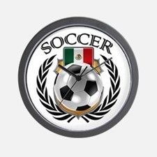 Mexico Soccer Fan Wall Clock