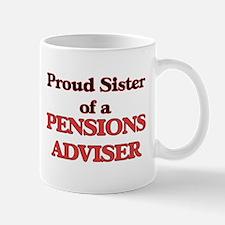 Proud Sister of a Pensions Adviser Mugs