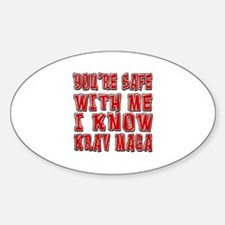 I Know Krav Maga Sticker (Oval)
