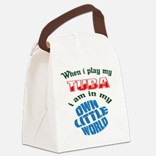 When i play my Tuba I'm in my own Canvas Lunch Bag