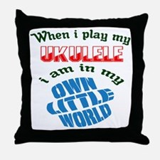 When i play my Tuba I'm in my own lit Throw Pillow
