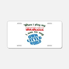 When i play my Tuba I'm in Aluminum License Plate