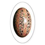 Pysanka (1) Sticker (Oval)
