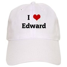 I Love Edward Baseball Cap
