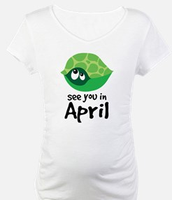 April Due Date Turtle Design Shirt