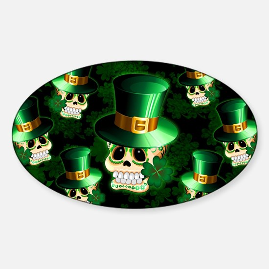 St Patrick Skull Cartoon Decal