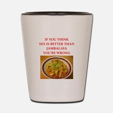 jambalaya Shot Glass