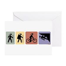 Multi Sport Gal Greeting Cards (Pk of 10)